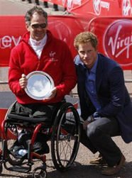Krige with Prince Harry